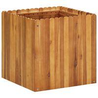vidaXL Garden Raised Bed 50x50x50 cm Solid Acacia Wood