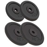 vidaXL Weight Plates 4 pcs 2x10 kg+2x5 kg Cast Iron