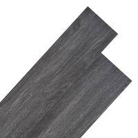 vidaXL PVC Flooring Planks 5.26 m² 2 mm Black and White