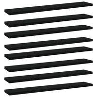vidaXL Bookshelf Boards 8 pcs Black 60x10x1.5 cm Chipboard