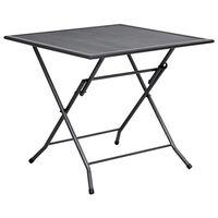 vidaXL Folding Mesh Table 80x80x72 cm Steel Anthracite