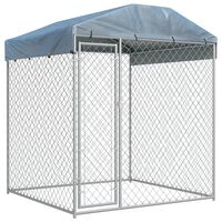 vidaXL Outdoor Dog Kennel with Canopy Top 193x193x225 cm