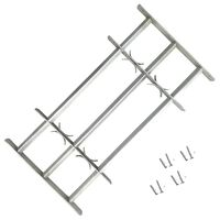 vidaXL Adjustable Security Grille for Windows with 3 Crossbars 1000-1500mm
