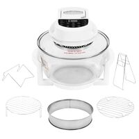 vidaXL Halogen Convection Oven with Extension Ring and Digital Timer 1400 W 17 L