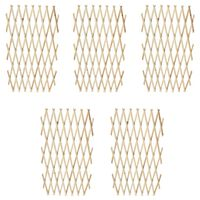 vidaXL Trellis Fence 5 pcs Solid Wood 180x90 cm