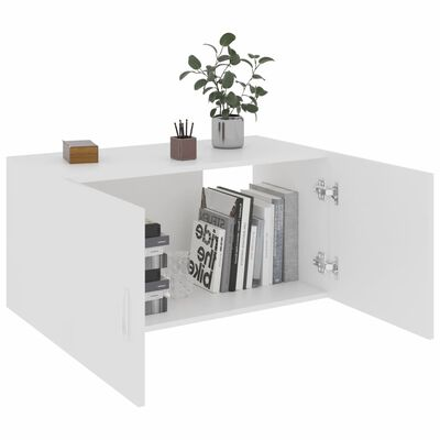 vidaXL Wall Mounted Cabinet White 80x39x40 cm Chipboard