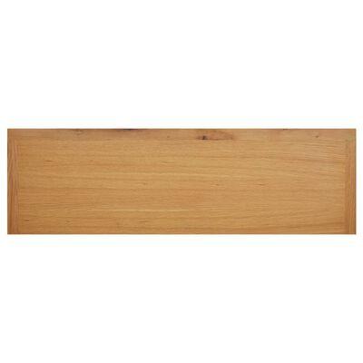 vidaXL Shoe Rack 120x37x45 cm Solid Oak Wood