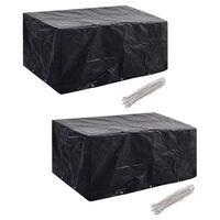 vidaXL Garden Furniture Covers 2 pcs 6 Person Poly Rattan Set 10 Eyelets 240x140cm