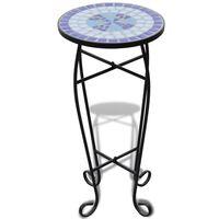 vidaXL Mosaic Plant Table Blue and White