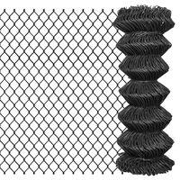vidaXL Chain Link Fence Steel 25x1 m Grey