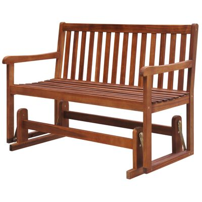 vidaXL Garden Swing Bench 125 cm Solid Acacia Wood
