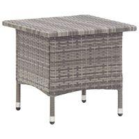 vidaXL Tea Table Grey 50x50x47 cm Poly Rattan