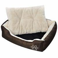 vidaXL Warm Dog Bed with Padded Cushion S