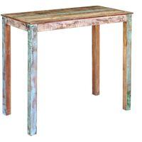 vidaXL Bar Table Solid Reclaimed Wood 115x60x107 cm