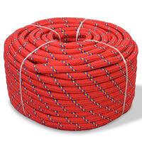 vidaXL Marine Rope Polypropylene 10 mm 50 m Red