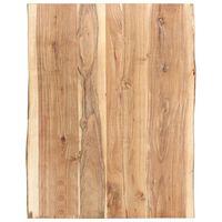 vidaXL Table Top Solid Acacia Wood 80x(50-60)x3.8 cm