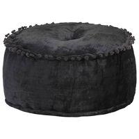 vidaXL Round Pouffe Velvet 40x20 cm Anthracite