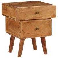vidaXL Nightstand Solid Acacia Wood 40x35x49 cm