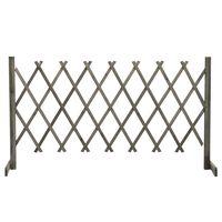 vidaXL Garden Trellis Fence Grey 150x80 cm Solid Firwood