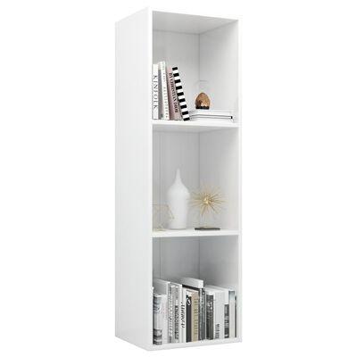 vidaXL Book Cabinet/TV Cabinet High Gloss White 36x30x114 cm Chipboard, Highglosswhite