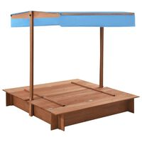 vidaXL Sandbox with Roof Firwood 122x120x123 cm
