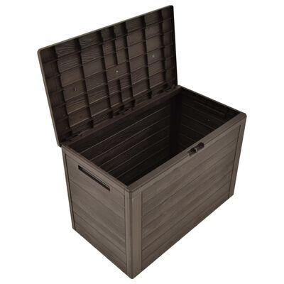 vidaXL Garden Storage Box Brown 78x44x55 cm