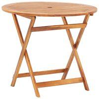 vidaXL Folding Garden Table 90x75 cm Solid Acacia Wood