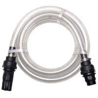vidaXL Suction Hose with Connectors 4 m 22 mm White