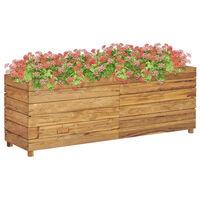 vidaXL Raised Bed 150x40x55 cm Recycled Teak and Steel