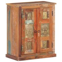 vidaXL Sideboard with Buddha Cladding 60x35x75 cm Solid Reclaimed Wood