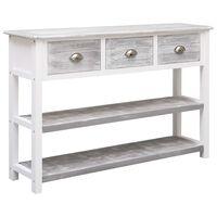 vidaXL Sideboard Antique Grey 115x30x76 cm Wood