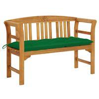 vidaXL Garden Bench with Cushion 120 cm Solid Acacia Wood