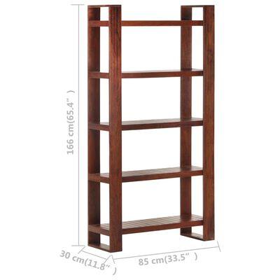 vidaXL Book Cabinet Honey Brown 85x30x166 cm Solid Acacia Wood,