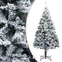 vidaXL Artificial Christmas Tree with Flocked Snow Green 300 cm PVC