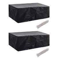 vidaXL Garden Furniture Covers 2 pcs 8 Eyelets 200x160x70 cm