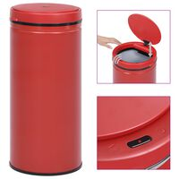 vidaXL Automatic Sensor Dustbin 80 L Carbon Steel Red