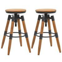 vidaXL Bar Stools 2 pcs Solid Fir Wood