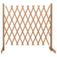 vidaXL Garden Trellis Fence Orange 180x100 cm Solid Firwood