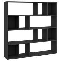 vidaXL Room Divider/Book Cabinet Black 110x24x110 cm Chipboard