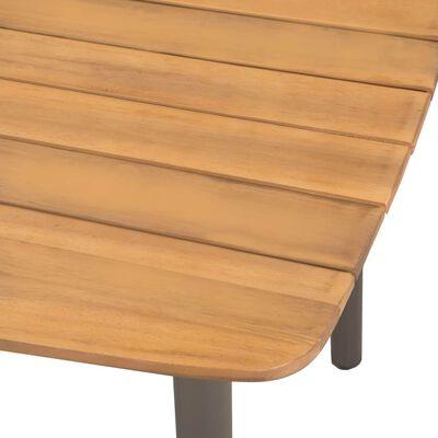 vidaXL Garden Table 150x90x72cm Solid Acacia Wood and Steel
