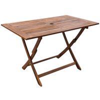 vidaXL Garden Table 120x70x75 cm Solid Acacia Wood