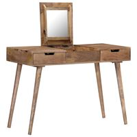 vidaXL Dressing Table 112x45x76 cm Solid Mango Wood