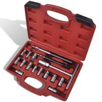 17 pcs Diesel Injector Seat Cutter Set