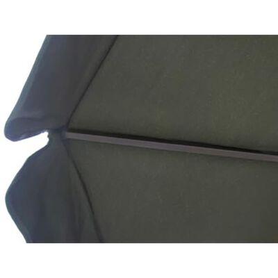 vidaXL Aluminium Umbrella with Portable Base Green
