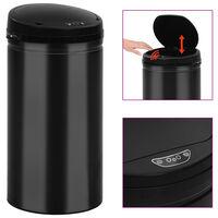 vidaXL Automatic Sensor Dustbin 50 L Carbon Steel Black