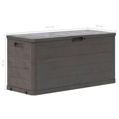 vidaXL Garden Storage Box 280 L Brown