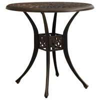 vidaXL Garden Table Bronze 78x78x72 cm Cast Aluminium