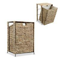 vidaXL Laundry Basket 44x34x64 cm Water Hyacinth