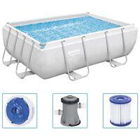 Bestway Power Steel Swimming Pool Set Rectangular 282x196x84 cm