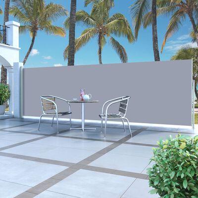 vidaXL Retractable Side Awning 160 x 500 cm Grey